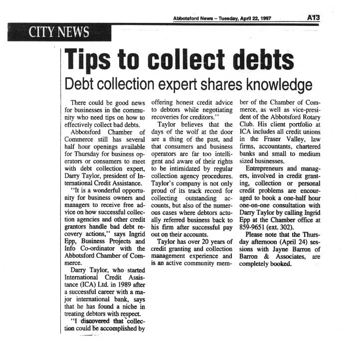 CWC Tips to collect debts